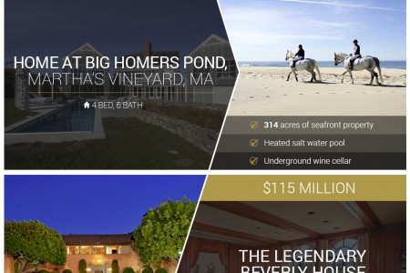 Most Expensive Homes in America Infographic