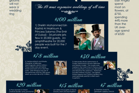 Most expensive weddings ot the world Infographic