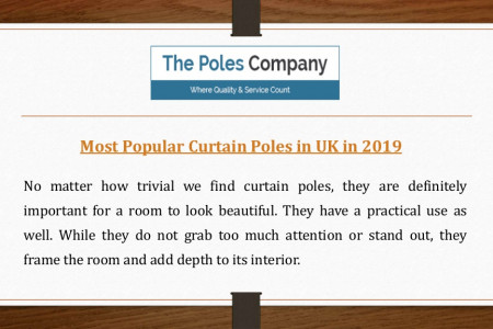 Most Popular Curtain Poles in UK Infographic