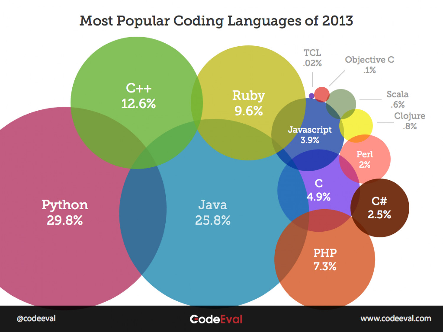 Most Popular Programming Languages of 2013 Infographic