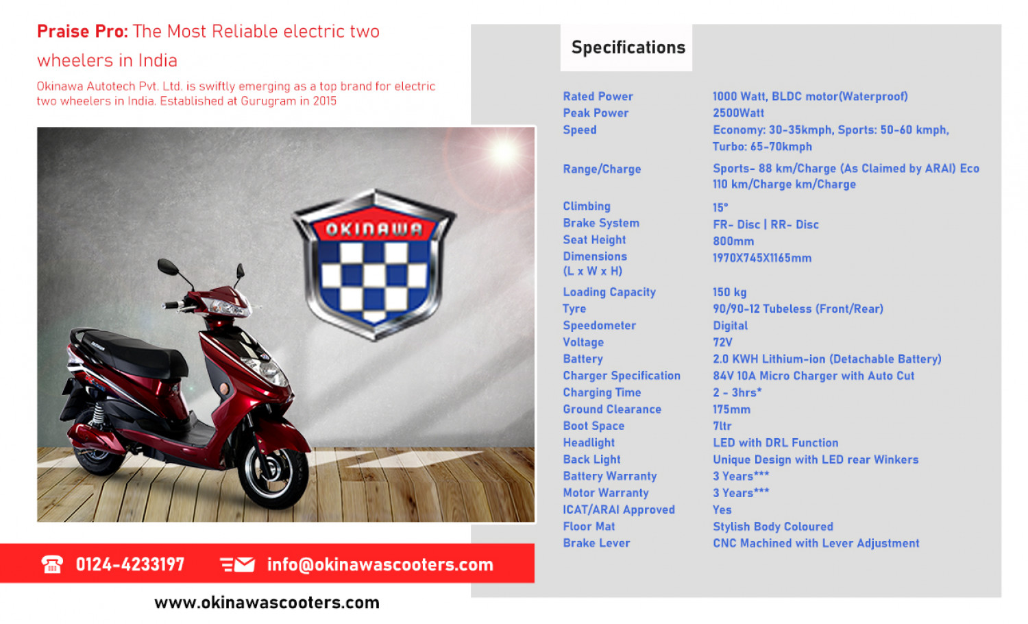 Most Reliable Electric Two Wheelers in India Infographic