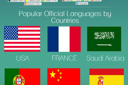 Most Widely Spoken Languages Infographic