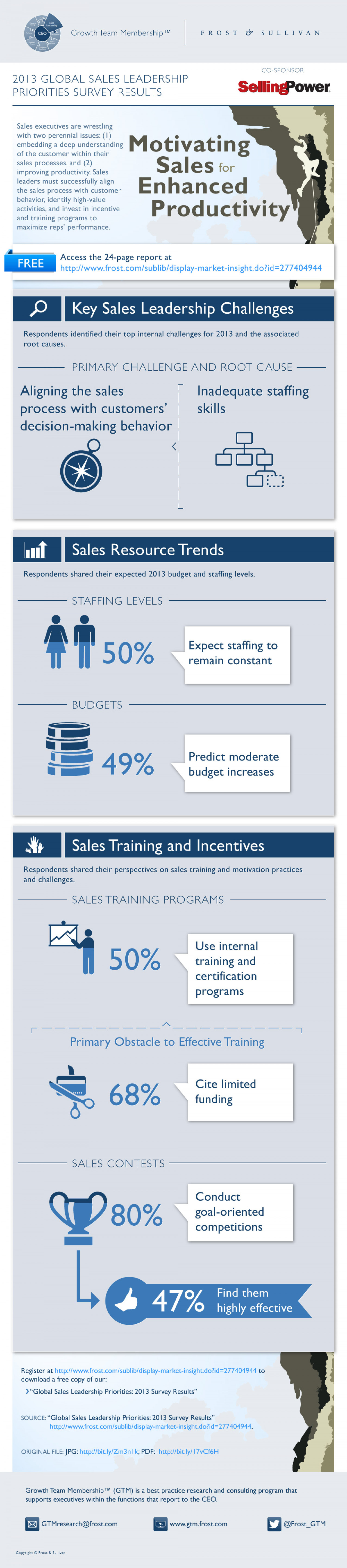 Motivating Sales for Enhanced Productivity Infographic