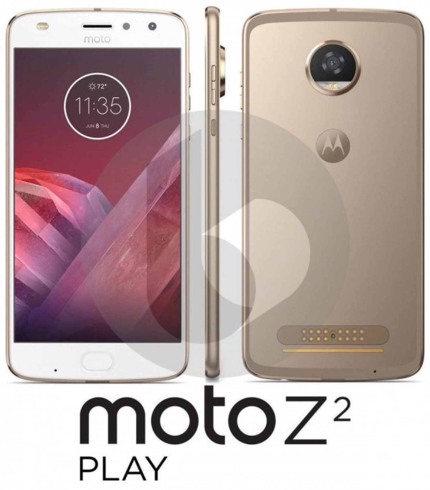 Moto Z2 Play image leaked, Moto Z-like slim design rolled Infographic