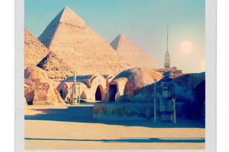 Movie Buildings in the Real World: Mos Eisley Infographic
