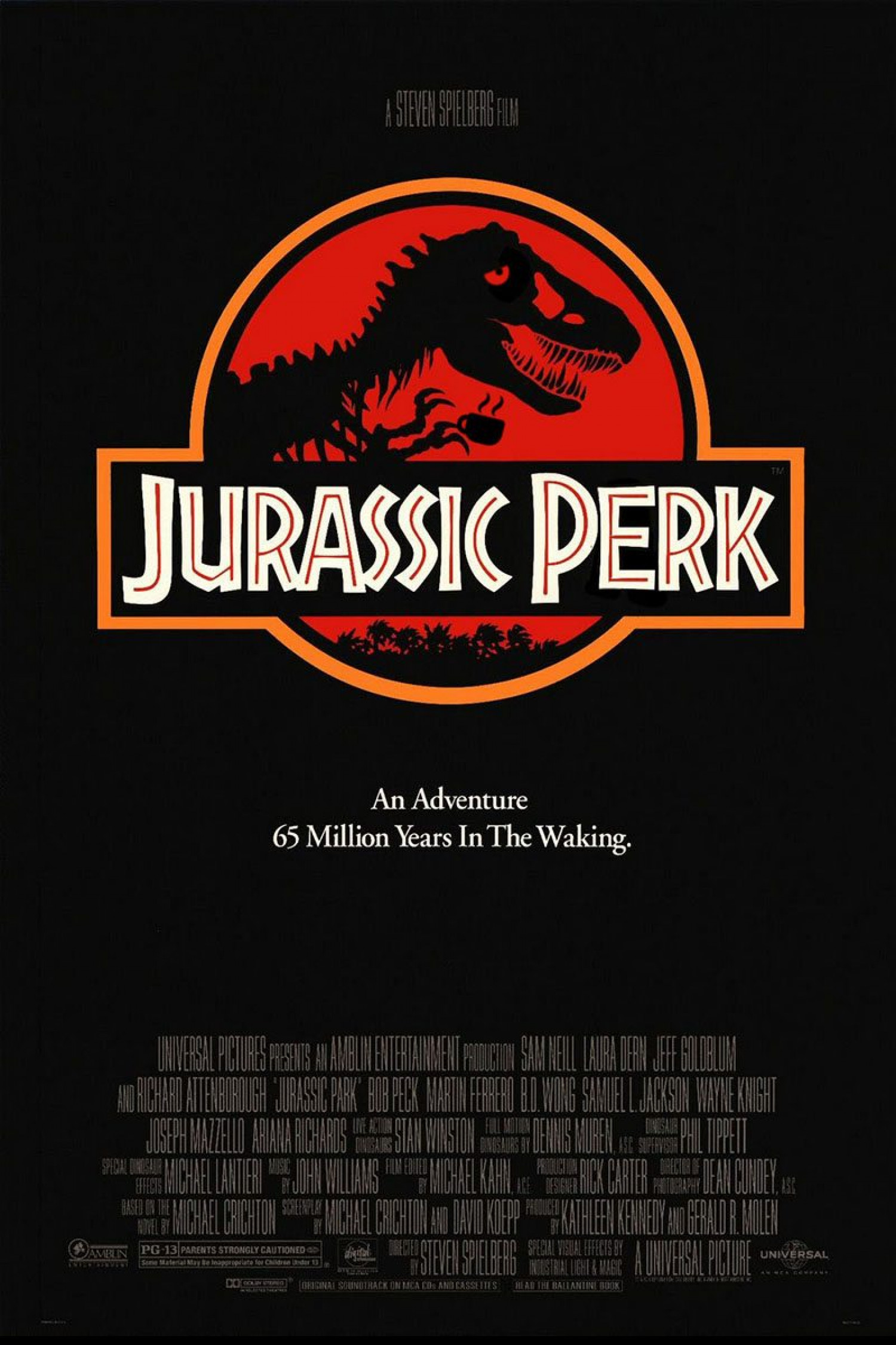 Films With Extra Coffee: Jurassic Perk Infographic