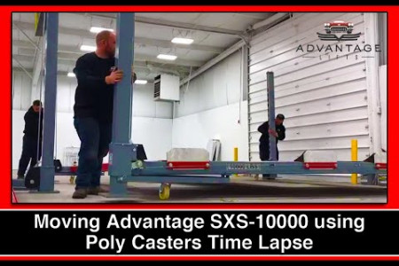 Moving Advantage SXS 10000 using Poly Casters Time Lapse Infographic
