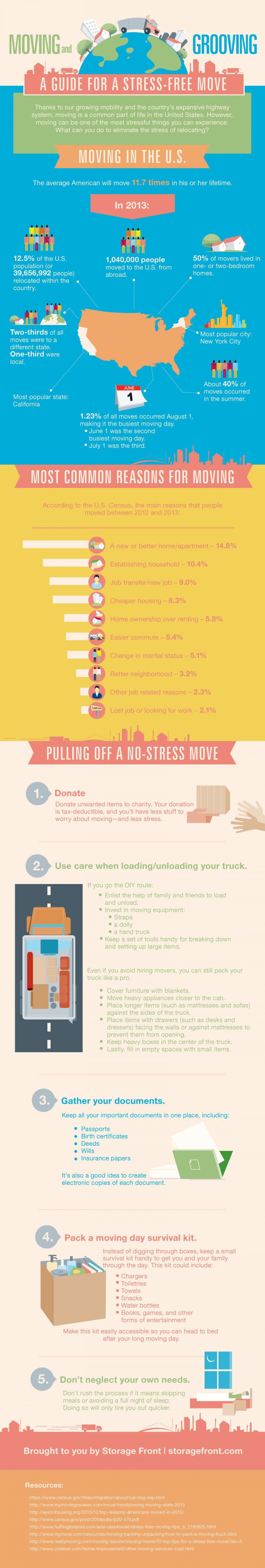 Moving and Grooving: A Guide for a Stress-free Move Infographic