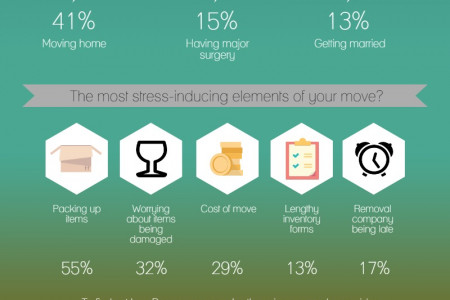 Moving Home Stresses Infographic