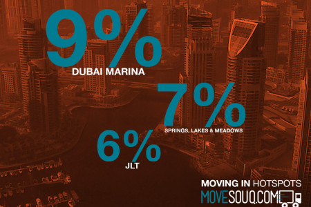 Moving In Activity in Dubai - August 2014 Infographic