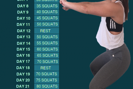 MP45 Athlete 30 Days Squat Challenge Infographic