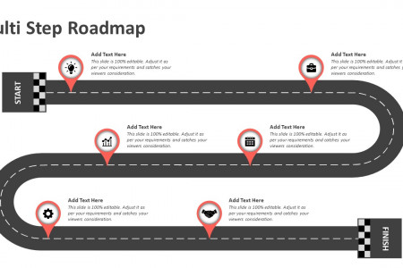 Multi Step Roadmap PowerPoint Template Infographic