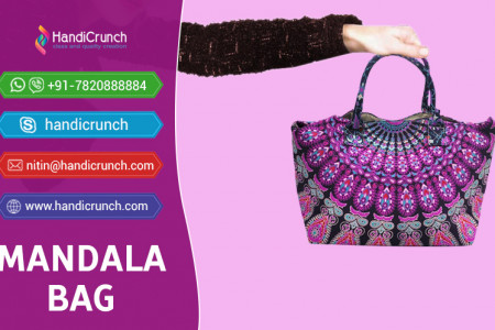 Multicolor Mandala Handbag For Girls Infographic