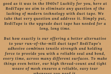 Multicolored Duct Tape for all Kinds of Fixing Needs Infographic
