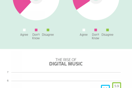 Music Production Evolution: The Rise Of Digital vs. The Vinyl Revival Infographic