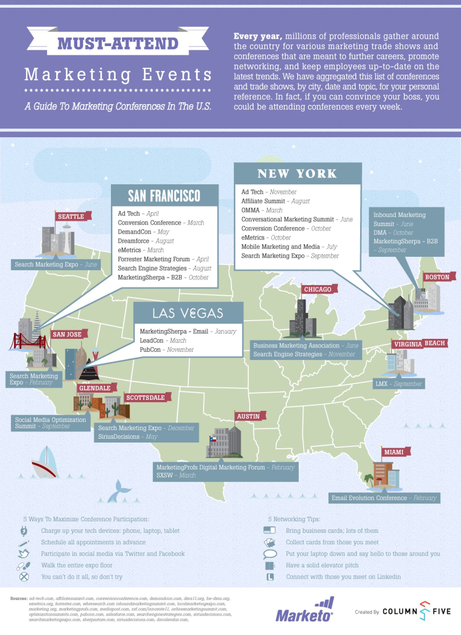 Must-Attend Marketing Events Infographic