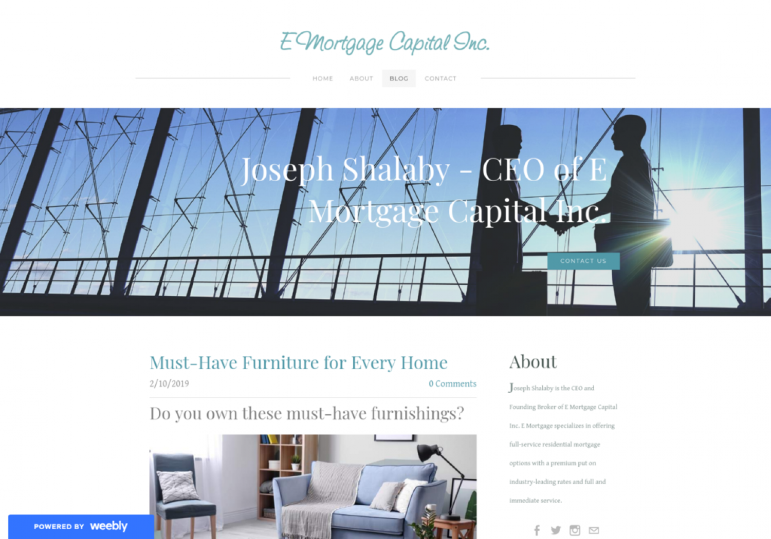 Must-Have Furniture for Every Home | Joseph Shalaby Infographic