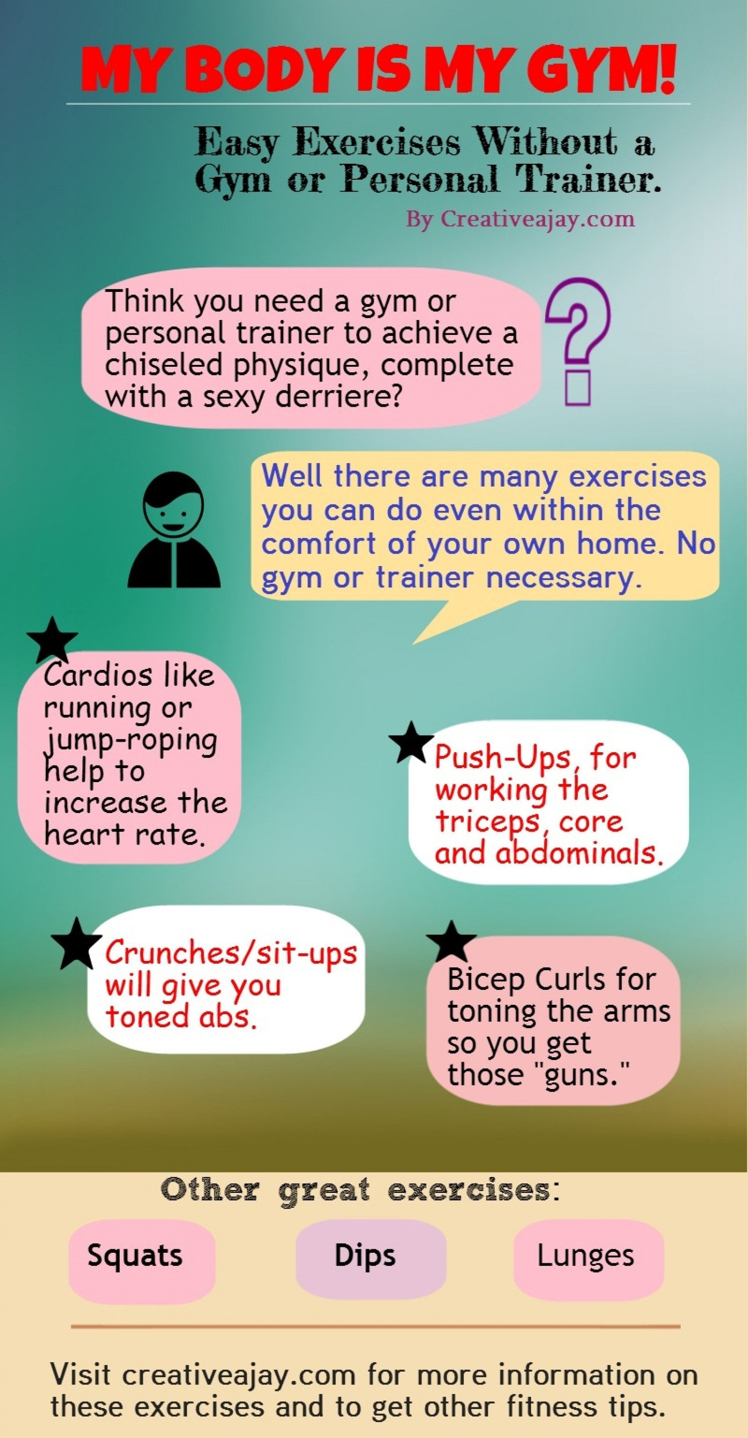 My Body is My Gym! Infographic