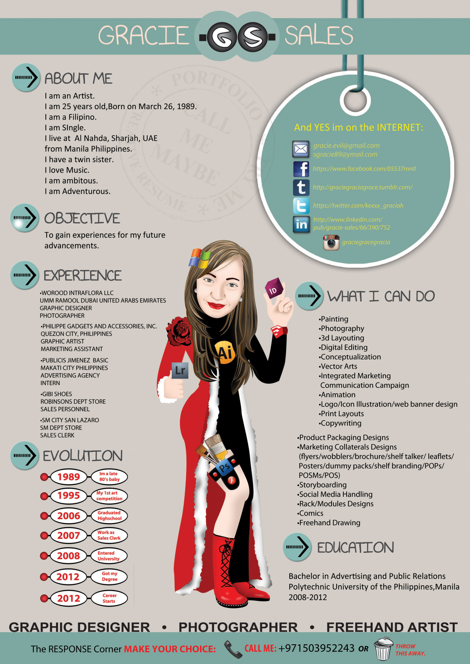 my creative resume infographic - Creative Resume