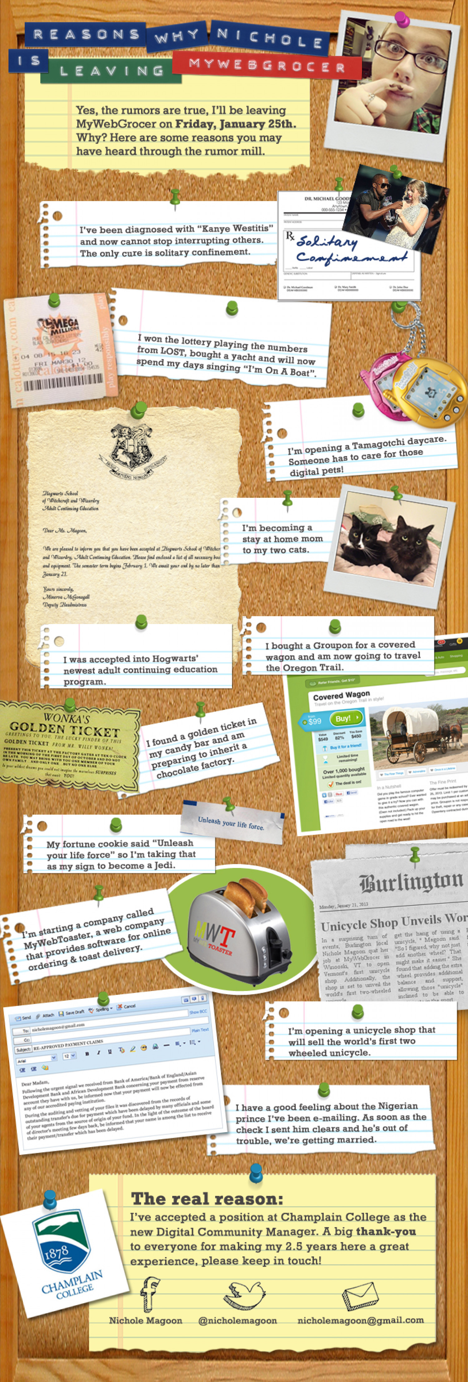 My Farewell Infographic to MyWebGrocer Infographic