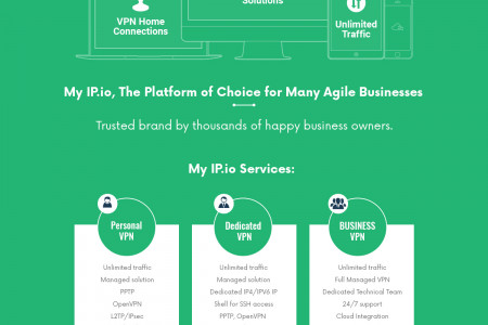 Myip.io – Most Secured Dedicated VPN Service  Infographic