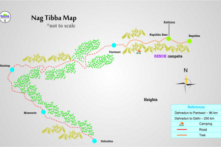 Nag Tibba Trek Map  Infographic