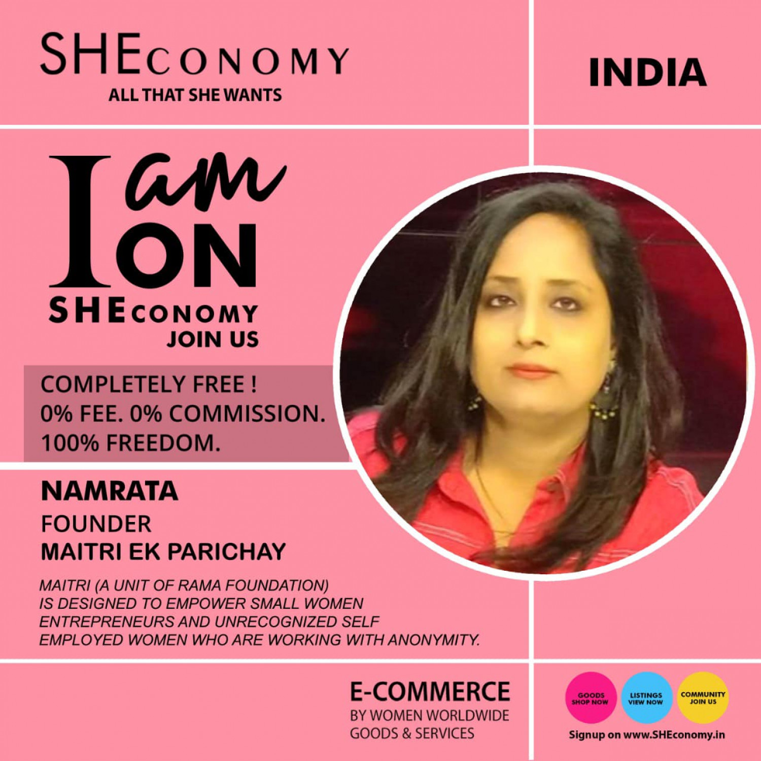 Namrata is on SHEconomy Infographic
