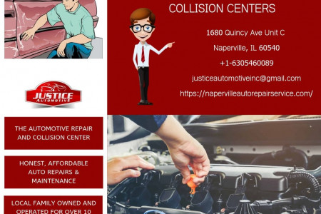 Naperville Auto Repair Service - Justice Automotive & Collision Centers Infographic