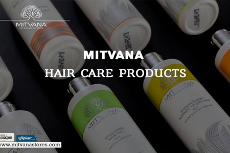 Natural ayurvedic hair care products in India Infographic