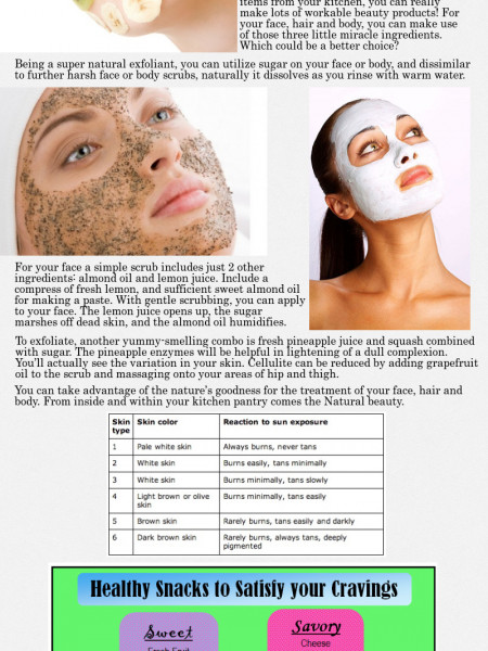 Natural Beauty Treatments Infographic