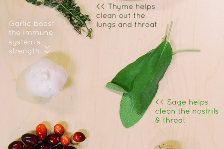 Natural Foods that Treat Colds Infographic