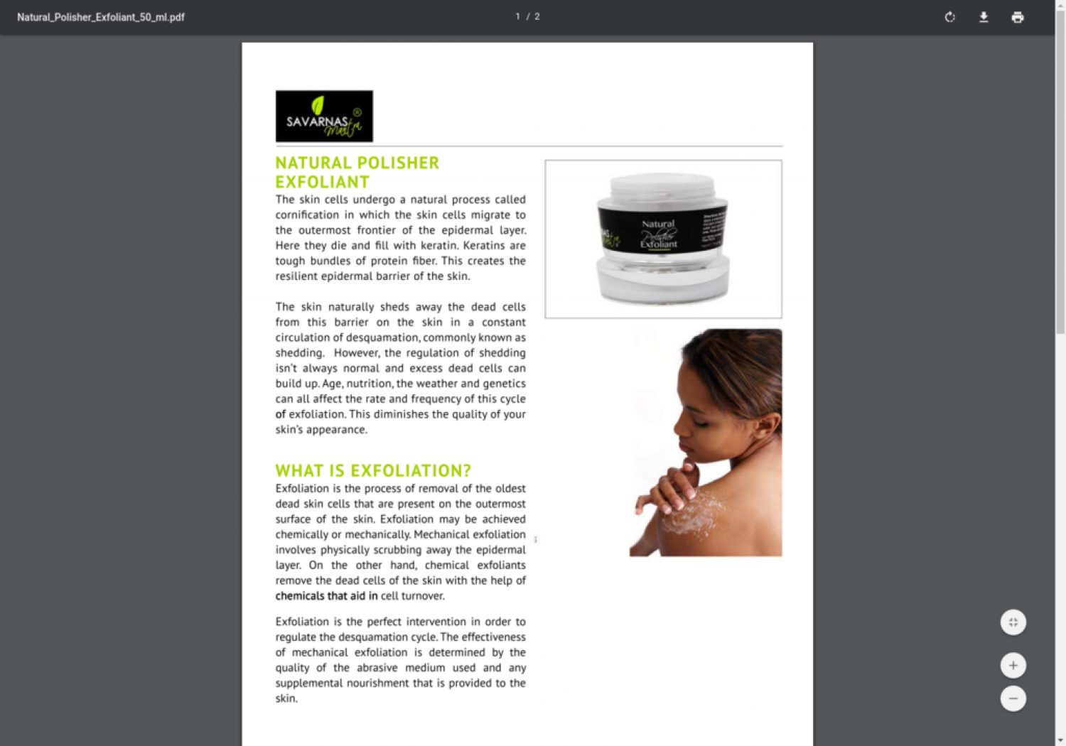 Natural Polisher Exfoliant - Shop Online Infographic