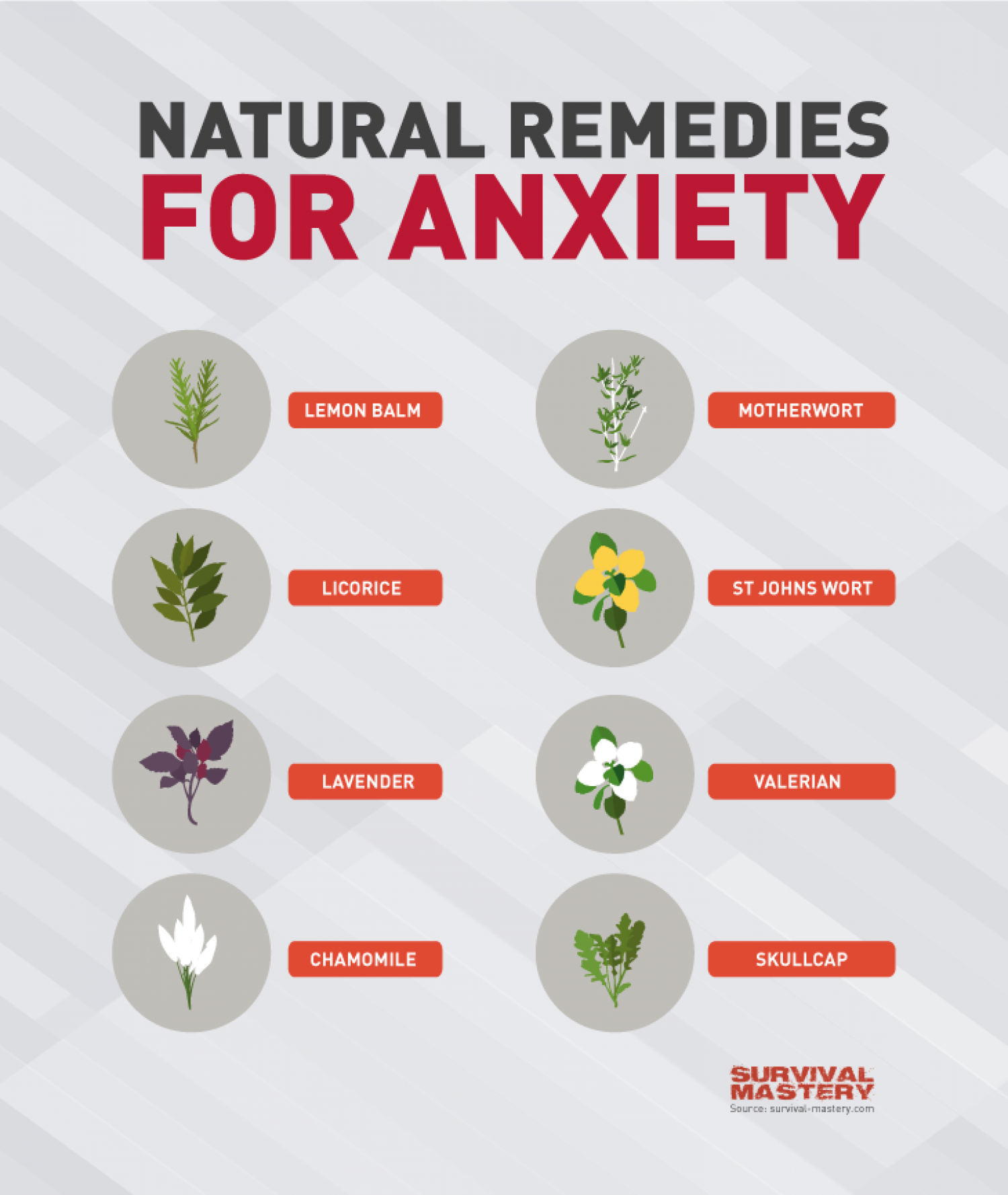 Natural Remedies for Anxiety Infographic Infographic