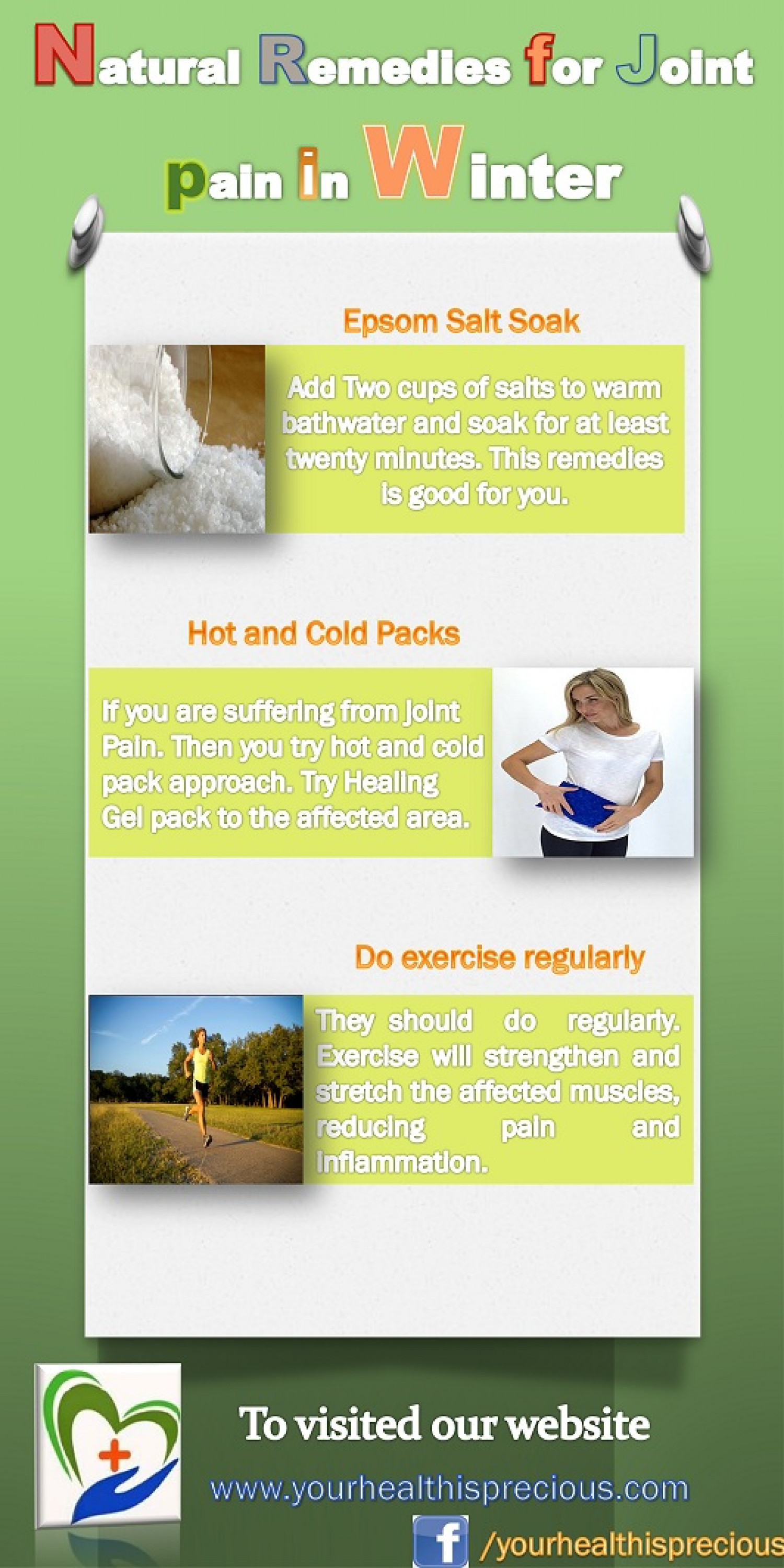 Natural remedies for joint pain in winter Infographic