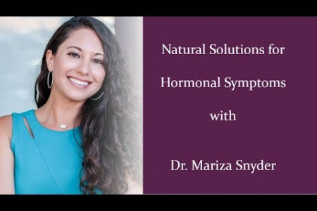 Natural Solutions for Hormonal Symptoms Infographic