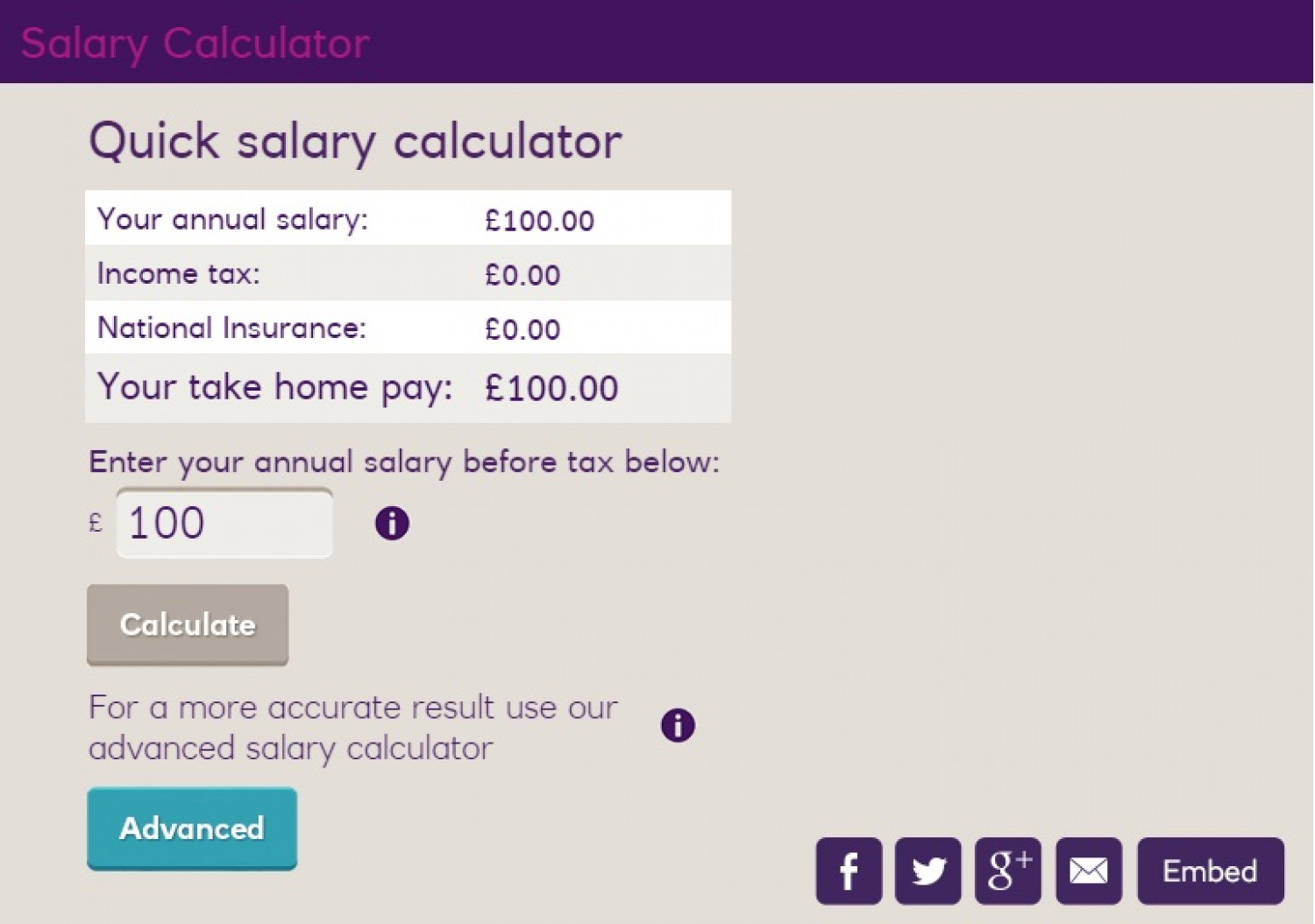 NatWest Salary Calculator Infographic