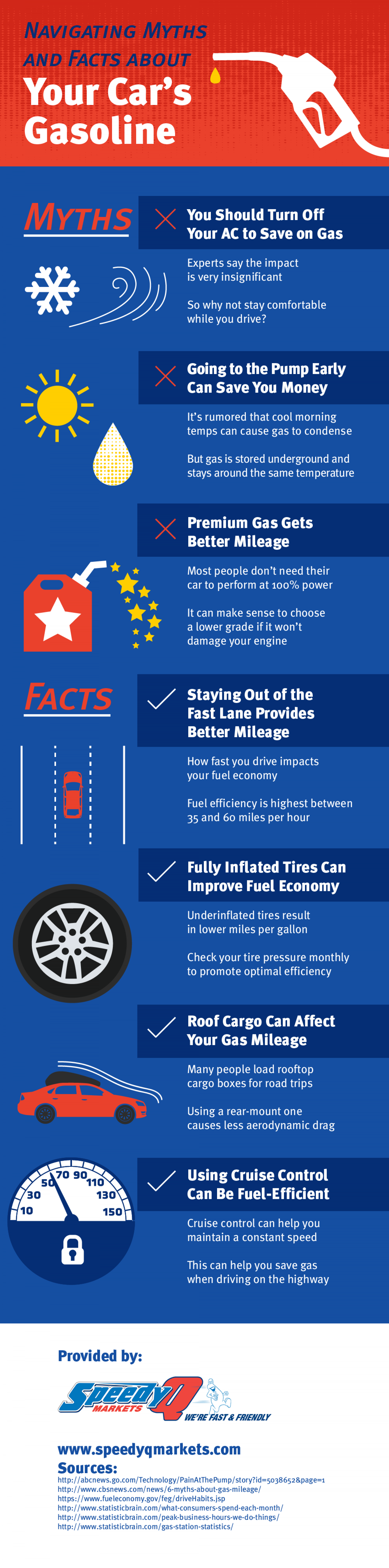 Navigating Myths and Facts about Your Car's Gasoline Infographic
