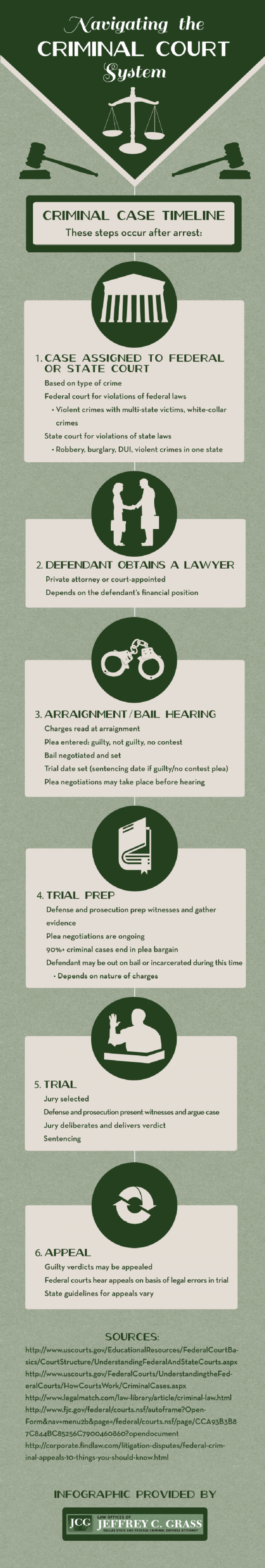 Navigating the Criminal Court System Infographic
