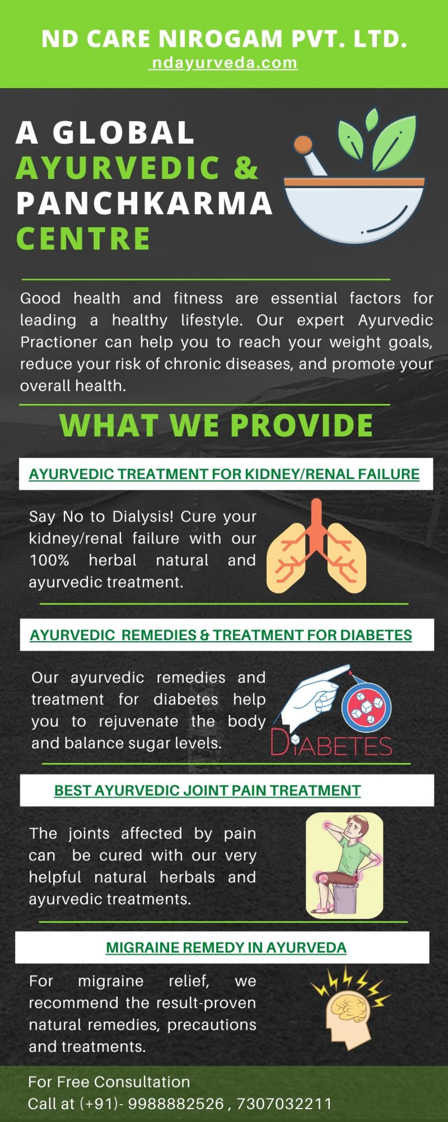 ND Care Ayurveda & Panchkarma Centre Infographic