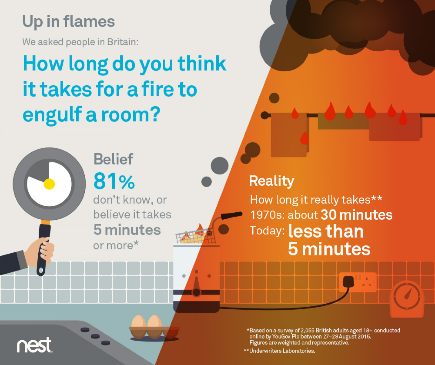 Nest: Fire Safety Campaign Infographic