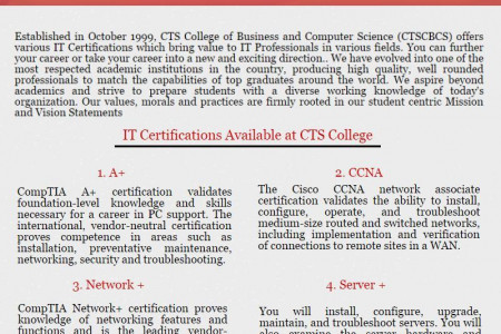 Network+ Certification Courses In Trinidad Infographic