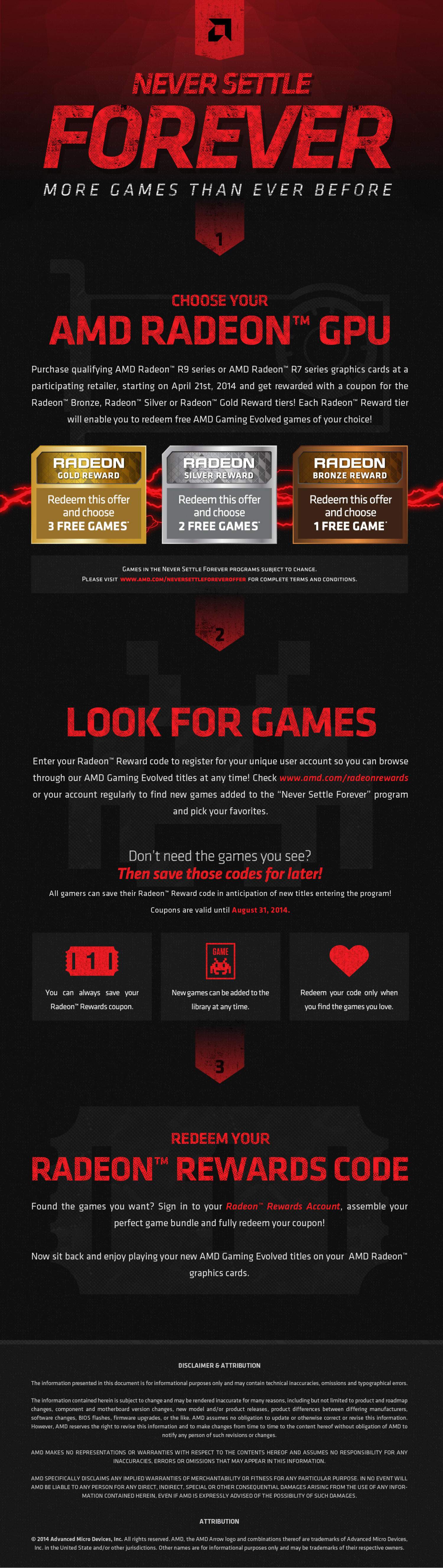Never Settle Forever: More Games Than Ever Before Infographic