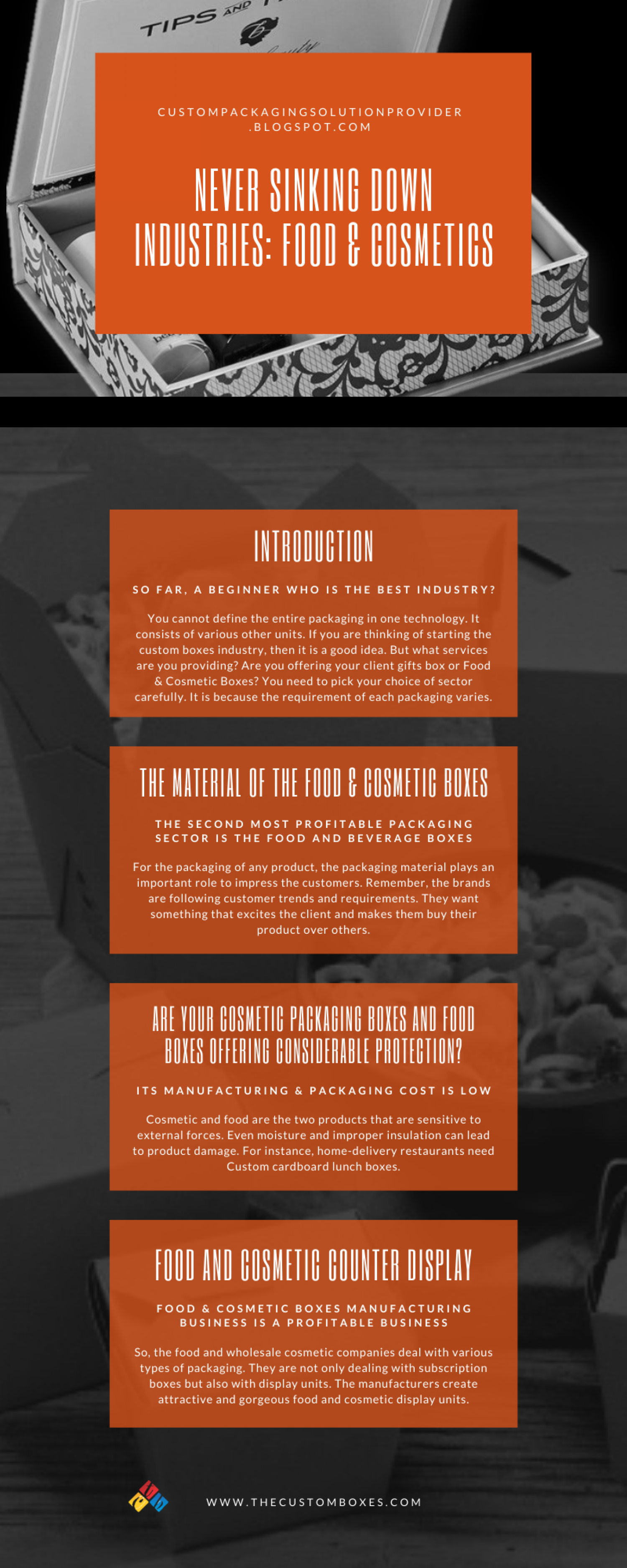 Infographic, Never Sinking Down Industries: Food & Cosmetics Infographic