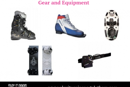 New and Gently Used Sports Gear and Equipment Infographic