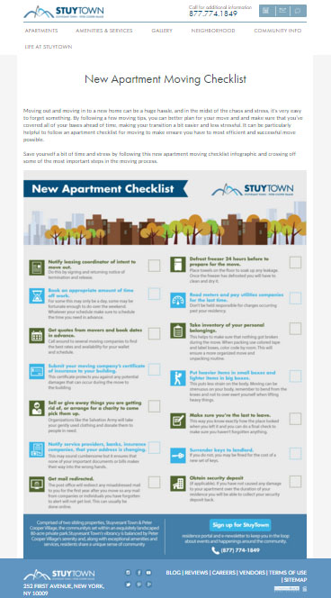 New Apartment Moving Checklist  VisualLy