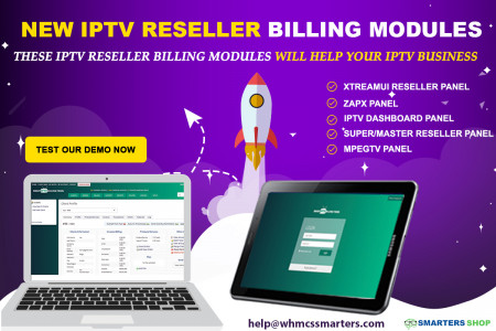 NEW IPTV BILLING MODULES FOR RESELLER  Infographic