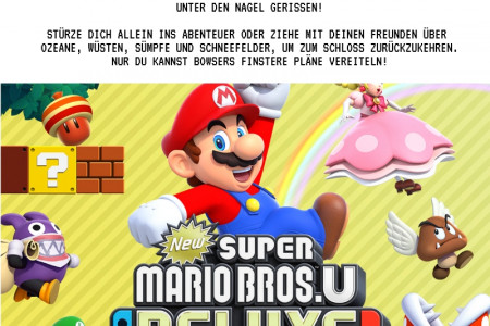 New Super Mario Bros. U - Deluxe Edition - Nintendo Switch - Action - PEGI 3 Infographic