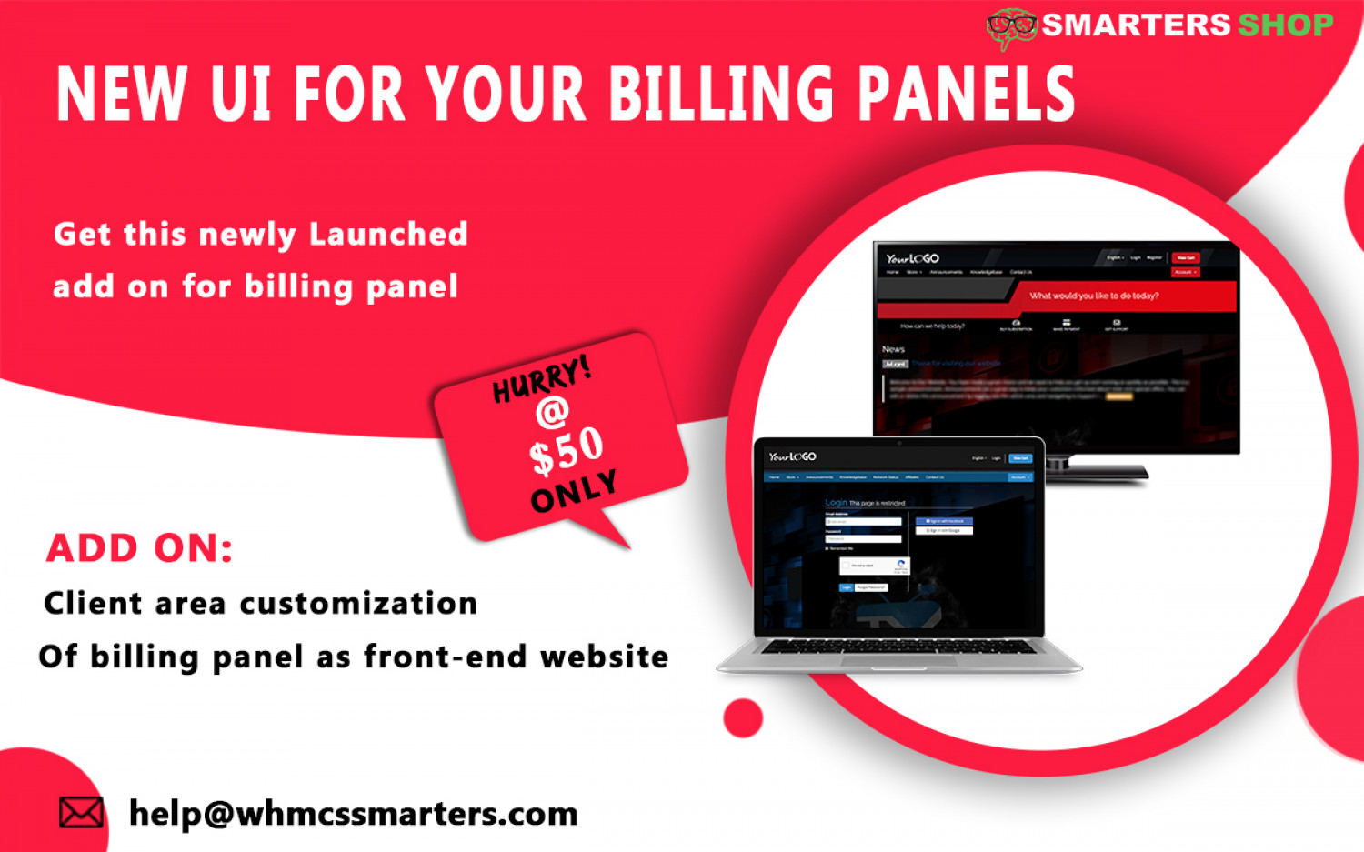 NEW UI FOR YOUR IPTV AND VPN BILLING PANELS Infographic