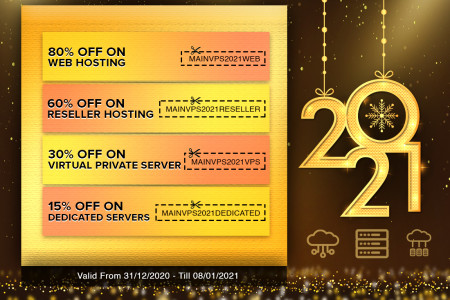 New Year Best Deals And Discounts For Web Hosting And Server.  Infographic