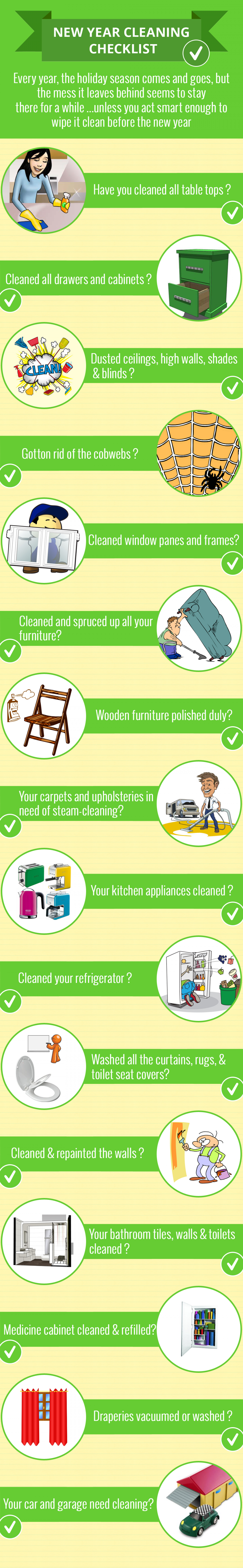 New Year Cleaning Checklist 2014 Infographic